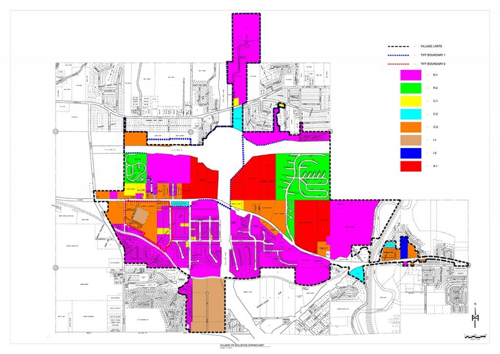 Village of Bellevue Zoning Map
